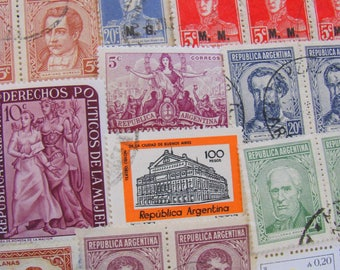 Patagonia 50 Vintage Argentinian Postage Stamps Republic of Argentina South America Buenos Aires Andes La Pampa Latin American Philately