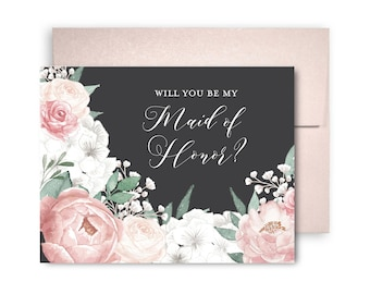 Will You Be My Bridesmaid Card Bridesmaid Maid of Honor Gift Will You Be My Maid of Honor Matron of Honor Brides Man Flower Girl #CL208