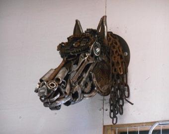 Scrap Metal Horses head, WARRIOR