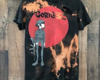 Gorillaz shirt - small - rock - rocker - metal- rock n roll - band shirt - concert shirt - distressed - grunge - reworked Awesome  shirt t