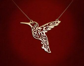 Mother Hummingbird, hummingbird necklace, hummingbird art, hummingbird jewelry, hummingbird pendant, bird necklace, bird pendant