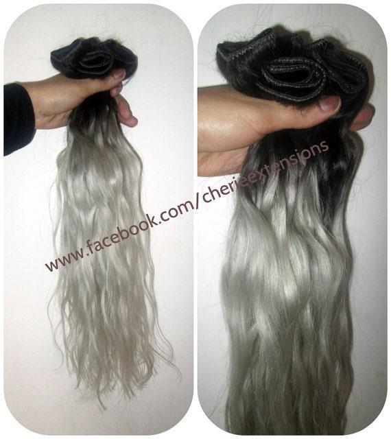 Balayage Dip Dye 8a Remy Ombre Balayage Human Hair Extensions
