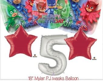 P J Masks Balloons - P J Masks Balloons - PJ Masks Decorations - PJ Masks -  PJ Masks Birthday