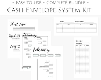 Cash Envelope System and Planner, Cash Envelope Printables, Cash Budget, Budget Binder Inserts, Finance Planner for Cash Budget