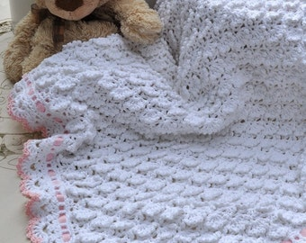 CROCHET PATTERN Fluffy Clouds Baby Blanket Ebook Crochet Pattern in PDF Instant Download