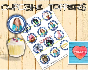 "Sing printables 2 "" circles  cupcake toppers stickers"