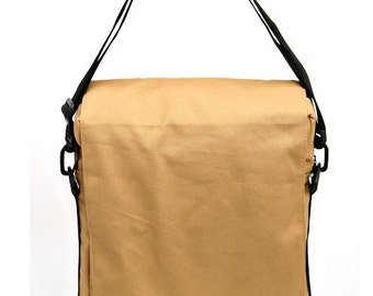 Messenger Bag,Backpack,Laptop Bag, Padded Laptop Bag - Niko in Camel