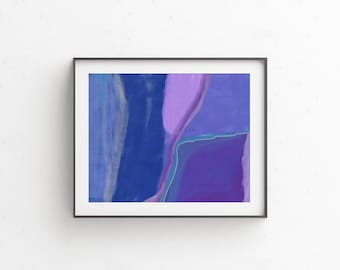 Blue Abstract Painting Print, Printable Abstract Art, Contemporary Wall Art, Fine Art Prints, Abstract Art Print, Abstract Digital Painting