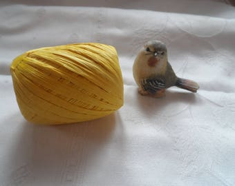 roll or yellow raffia Ribbon, long 30 m, scrapbooking, packaging, decoration, wedding