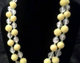 Vintage 1950's double strand necklace