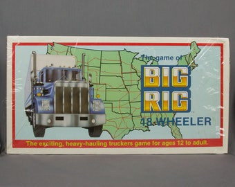 Vintage 1985 Big Rig 18 Wheeler Trucker Board Game New in the wrapper Ages 12 to adult