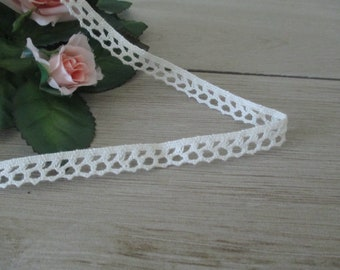 Free Shipping 3 Yards Vintage Lace Trim Narrow White Scrapbook Cotton