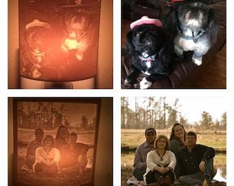 Personalized Night Light, Custom 3d Printed Lithophane Night Light, Personalized Gift