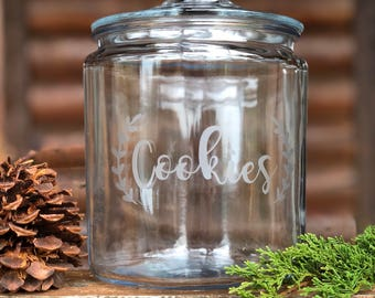 Personalized Etched Cookie Jar