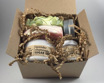 Spa gift basket etsy sugar scrub gift box mothers day gift idea spa gift basket for women negle Gallery