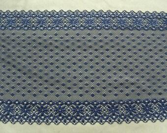 LACE of calais - blue 18 cm wide