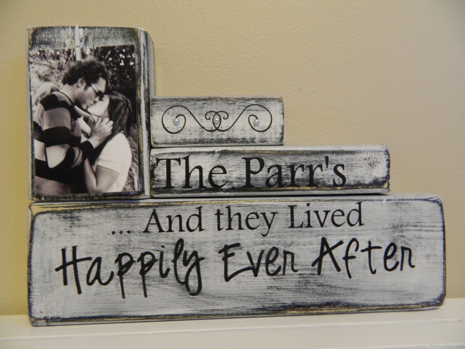 Custom Wood Name Sign Personalized Wedding GiftLast