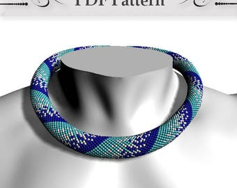 Bead crochet rope pattern, Bead Crochet Necklace Pattern, pattern for bead crochet necklace, Bead Crochet Tutorial master class Winter Snow