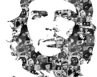 Che Guevara Collage style poster Art Print Repro A3