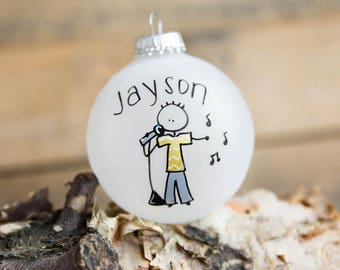 Singer Christmas Ornament - Personalized for Free