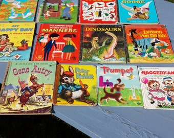 Vintage Lot Of 12 Children's Book Whitman Little Golden  Disney Etc.