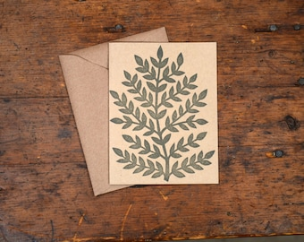 Set of Six Block Printed Cards