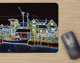 abstract photography of Perkins Cove in Ogunquit Maine mouse pad makes a great stocking stuffer
