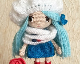 Sailor girl Collectible dolls Amigurumi doll Crochet doll Crochet toy Amigurumi toy Interior doll Handmade decor Eco-friendly doll Miniature