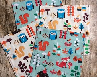 Handmade hankies, organic cotton handkerchief, childrens tissues, kids hankies, zero waste, reusable tissues