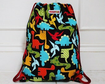 Dinosaur Backpack, Bag, Swim bag, PE bag