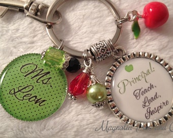 PRINCIPAL PERSONALIZED, Assistant Principal, Teacher, Key Chain, Necklace, Bookmark, Lanyard, School, Supply, Teach Lead Inspire