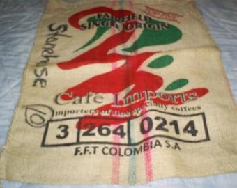 Large Coffee Bean Burlap Bag.