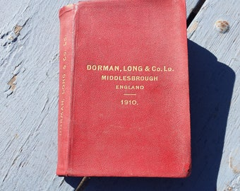 Antique 1910 Dorman, Long & Co. Steel Book For Architects Builders Engineers