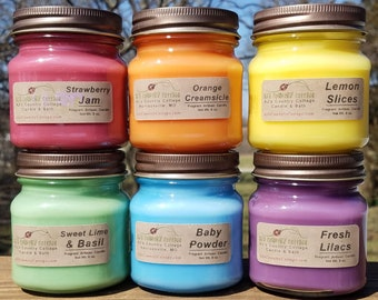 9 HOMESCENTING CANDLES - Choice - Vanilla, Cinnamon, Apple, Pumpkin, Fresh, Clean, Citrus, Floral, Spice, Fruit, Herbal, Candle Gift Pack