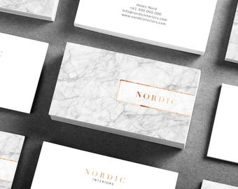 Nordic Business card template | Business stationary | Marketing collateral