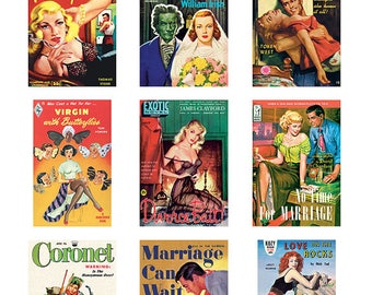 Pulp Art Stickers Theme 'Best of 9' Set - MARRIAGE?