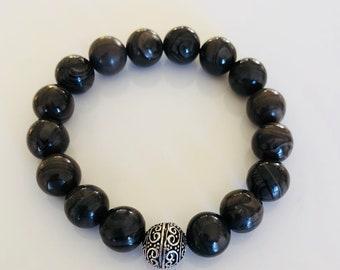 Mens Tibetian Ball Bead Bracelet