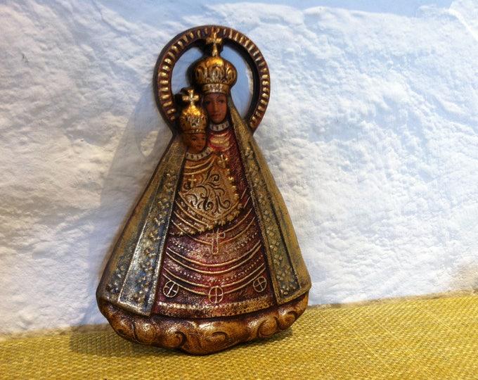 Vintage Madonna Wall Decoration Ceramic