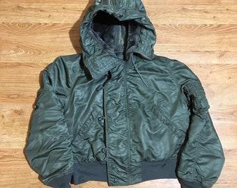 1977 N-2B Flight Jacket - Large - Bomber Jacket - Vintage Clothing - 70s Clothing - Alpha Industries - Alpha Jacket - Military Clothing -