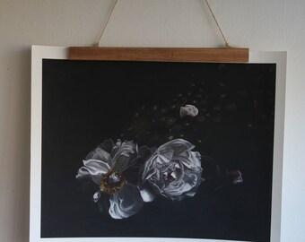 Moonlit Peonies Giclee print