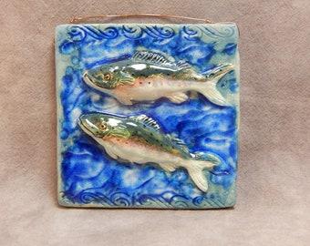 Two Fish Ceramic Art Tile