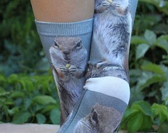 Chipmunk Cool Animal Socks | Chipmunk Lover Gift | Chipmunk Birthday Gift | Chipmunk Stocking Stuffer | Kids Animal Sock | Fun Socks