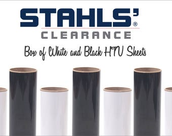 20 HTV SHEETS - Box of 10 Black & 10 White - Stahls' Craft Iron-on Heat Transfer Vinyl - Black And White