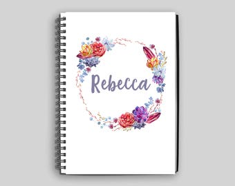 Name on Notebook ~ Personalized Succulent Journal ~ Custom Diary ~ Notebook ~ Personalized Gift ~ Name on Journal ~ Succulents