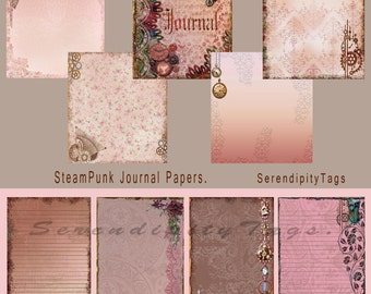 Steampunk Journal Papers and Tags