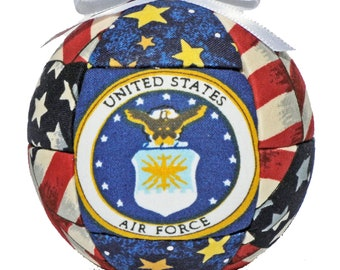Air Force, Christmas Ornament, Patriotic, Military Gift, Gift For Him, Gift For Her, Mothers Day, Red, White, and Blue Gift, Home Decor