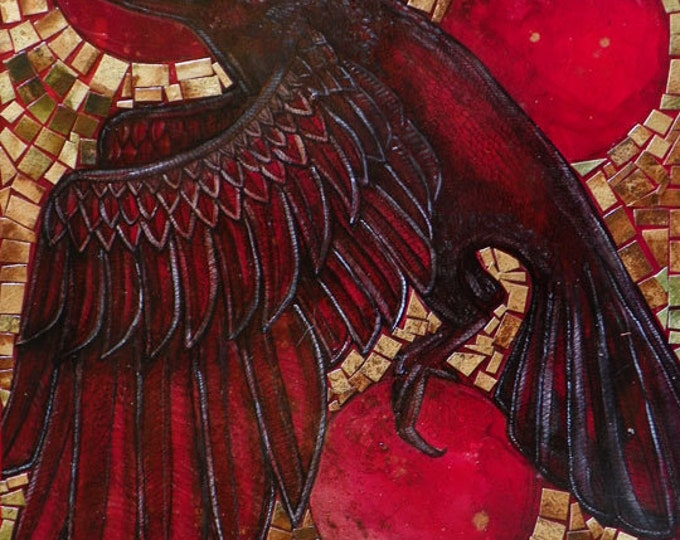 Corvus / Crow / Raven / Bird / Animal Art Print by Lynnette Shelley