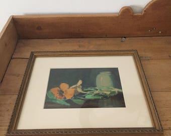 Lizbeth Clifton Hunter Antique Watercolor