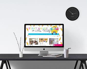 Teacher Blog Multi-Function Template 9016, Website Design, WIX Website, Forum Website, Teacher Supplies, Wix Template