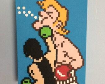 Mike Tyson's Punch-Out!! Retro Video Game Art 8x10  custom artwork  8 Bit Pixel Art 8bit